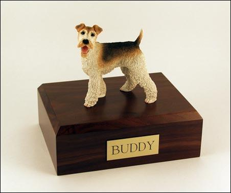 Wire Fox Terrier Dog Figurine Urn Ever My Pet