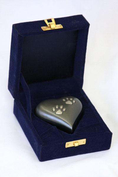 Paw Print Keepsake Heart Pet Urn