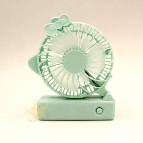 FAN USB Rechargeable Folding Fan (Green)