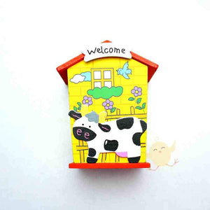 Money Box Wooden Cow