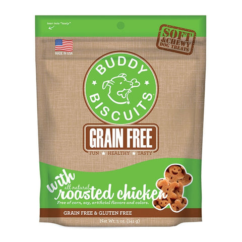 Cloud Star Buddy Biscuits Grain Free Soft and Chewy Roasted Chicken Dog Treats