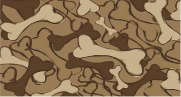 Arlee Pet Products Camouflage Bone Tapestry Bowl Mat
