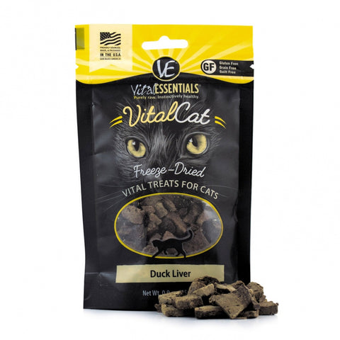 Vital Essentials Vital Cat Freeze Dried Grain Free Duck Liver Cat Treats