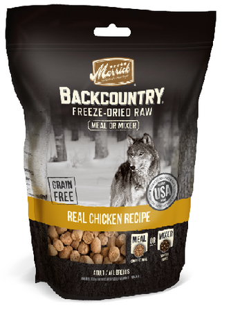Merrick Backcountry Freeze Dried Grain Free Chicken Recipe Meal Mixer for Dogs