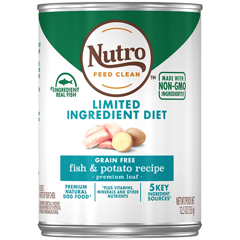 Nutro Premium Loaf Limited Ingredient Diet Fish & Potato Recipe Canned Dog Food