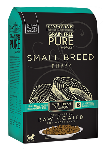 Canidae PURE Petite Small Breed Puppy Salmon Recipe Raw Coated Dry Dog Food