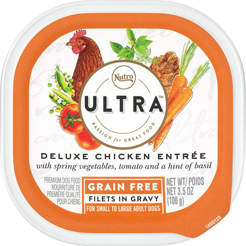 Nutro Ultra Grain Free Deluxe Chicken Entree Filets in Gravy Wet Dog Food