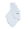 Ankle School Socks - White