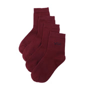 Ankle School Socks - Maroon