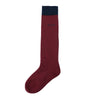 Knee High School Socks - Maroon