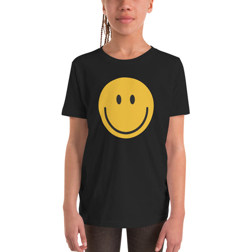 Girl's smiley face emoji t-shirt