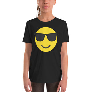 Girl's sunglasses emoji t-shirt