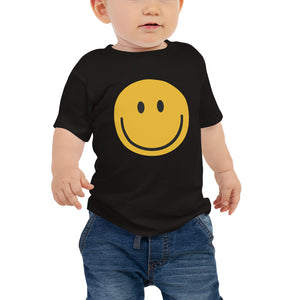 Baby jersey smiley face emoji t-shirt