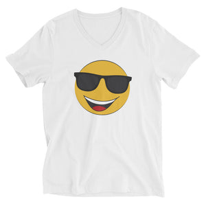 Men's sunglasses emoji v-neck t-shirt