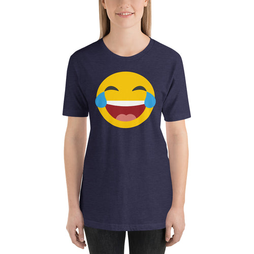 Women's tears of joy emoji tee