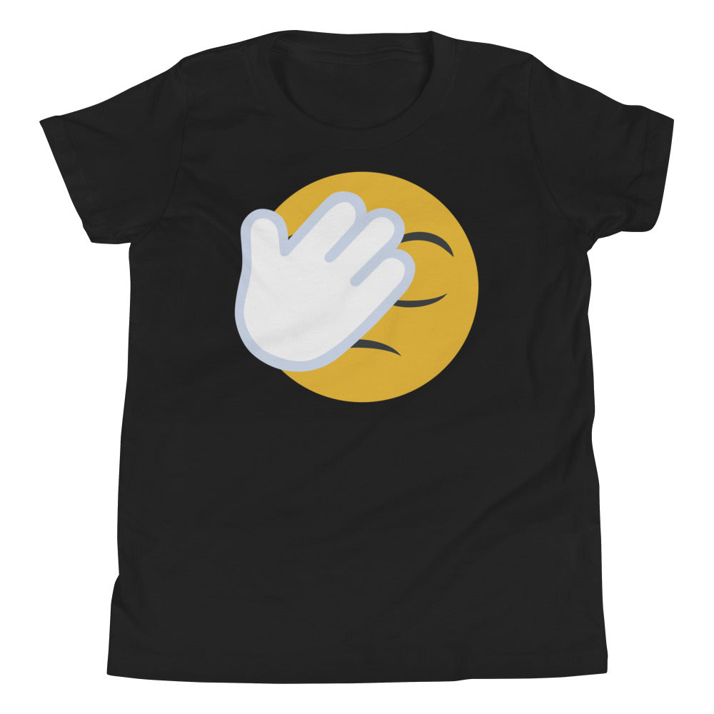 Kid's unisex face-palm emoji tee