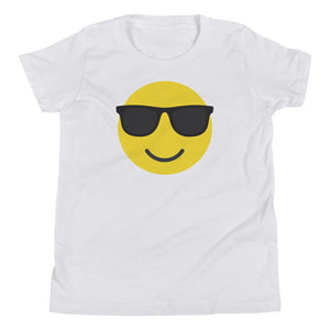 Boy's sunglasses emoji t-shirt