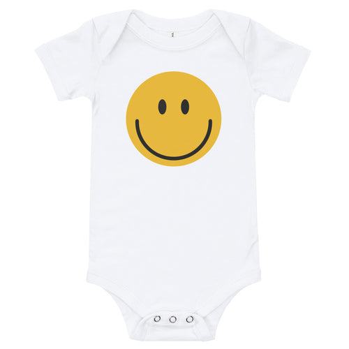 Smiley face emoji baby bodysuit