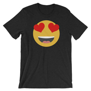 Women's heart eyes emoji t-shirt