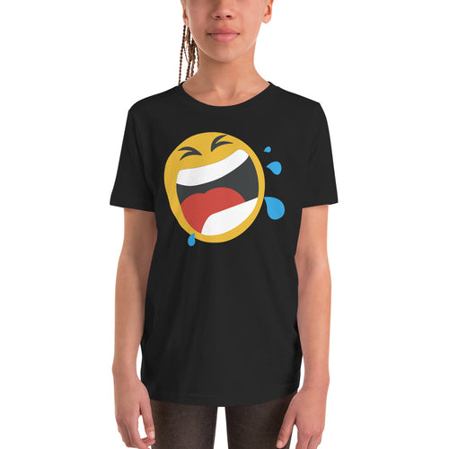 Girl's screaming emoji t-shirt