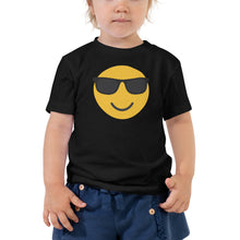 Load image into Gallery viewer, Toddler's sunglasses emoji t-shirt