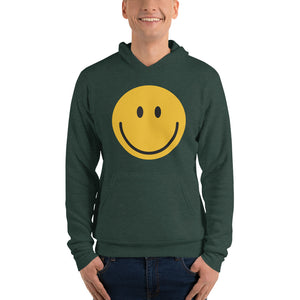 Men's smiley face emoji fleece hoodie