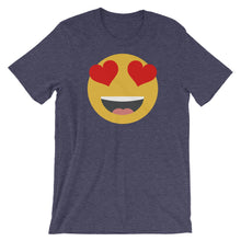 Load image into Gallery viewer, Women's heart eyes emoji t-shirt
