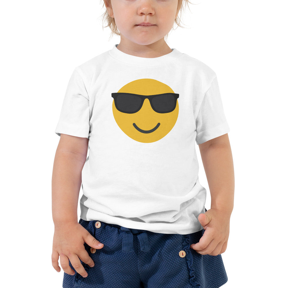 Toddler's sunglasses emoji t-shirt
