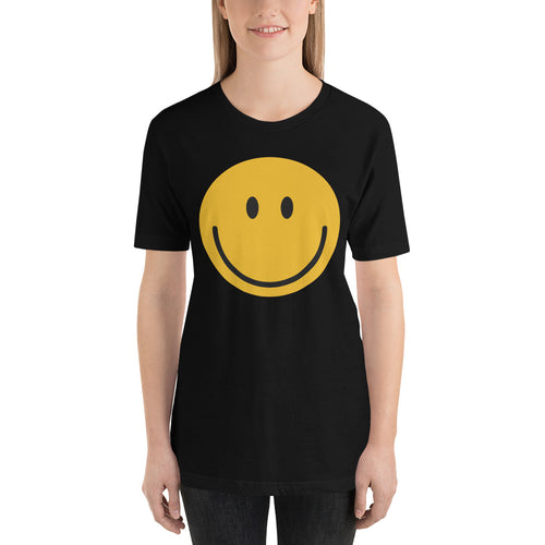 Women's smiley face emoji t-shirt