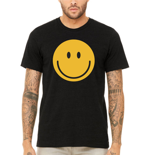 Men's smiley face emoji t-shirt