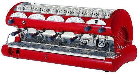 LA Pavoni 4 Group Black or Red Commercial Espresso Machine (BAR-Star 4V)
