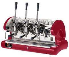 La Pavoni 3 Lever Black or Red Commercial Espresso Machine (BAR 3L)