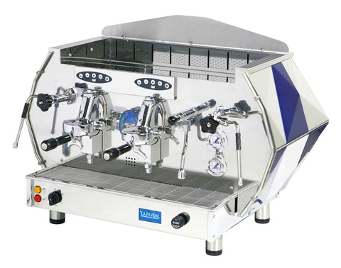 La Pavoni 2 Group Blue or Red Volumetric Espresso Cappuccino Machine (DIA 2V)