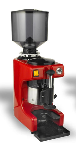 LA Pavoni ZIP Black or Red Commercial Coffee Grinder with ON and OFF Switch