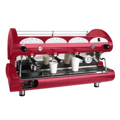 La Pavoni 3 Group Black or Red Commercial Espresso Machine (BAR STAR 3V)