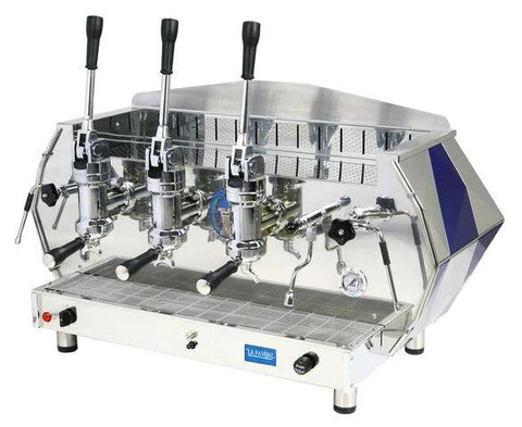 La Pavoni 3 Group  Commercial Lever Espresso Machine - Red or Blue (DIA 3L)