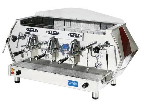 La Pavoni Blue or Red Commercial Volumetric Espresso Cappuccino Machine (DIA 3V)