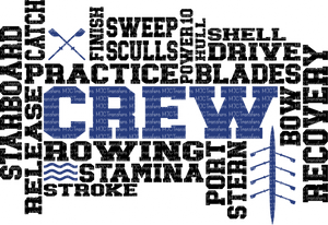 CREW WORD ART (SUBLIMATION)