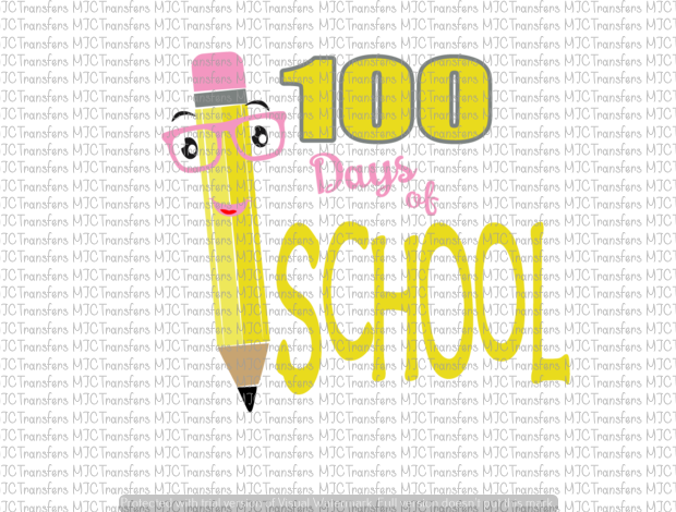100 DAYS OF SCHOOL (SUBLIMATION)