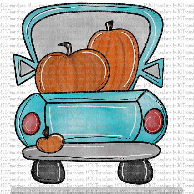 PUMPKIN TRUCK (SUBLIMATION)