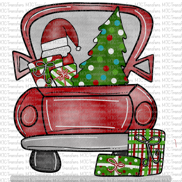 RED CHRISTMAS TRUCK (SUBLIMATION)