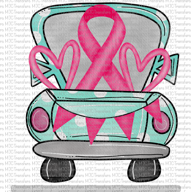 BREAST CANCER RIBBON TRUCK (SUBLIMATION)