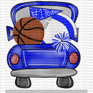 BLUE BASKETBALL TRUCK (SUBLIMATION)
