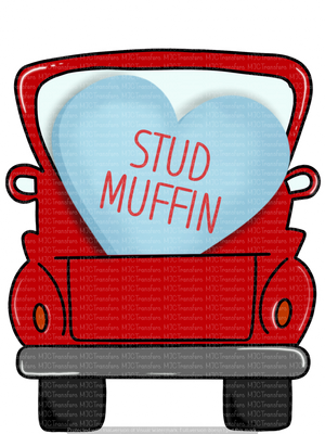 VALENTINES STUD MUFFIN TRUCK (SUBLIMATION)