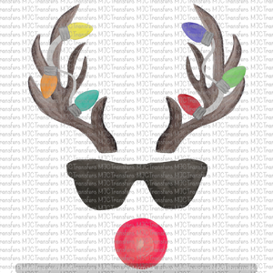 RUDOLPH WITH SUNGLASSES (SUBLIMATION)