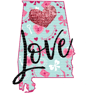 LOVE HEART STATES (SUBLIMATION)
