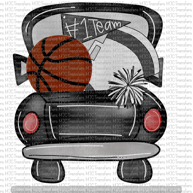 BLACK BASKETBALL TRUCK (SUBLIMATION)