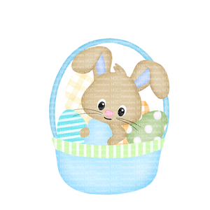 BUNNY BASKET (BLUE) (SUBLIMATION)