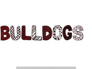BULLDOGS (MAROON/WHITE) (SUBLIMATION)