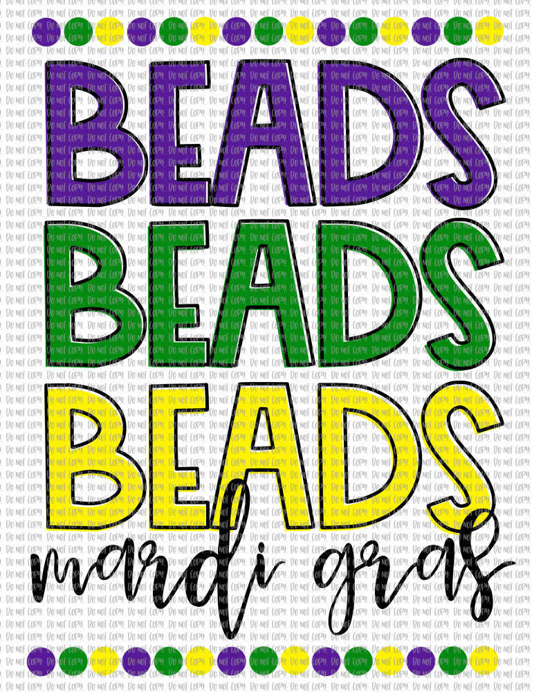BEADS BEADS BEADS MARDI GRAS (SUBLIMATION)